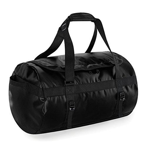 Bolsa de viaje BagBase de Tarp 50 litros de lona 53x33x33cm Negro Black