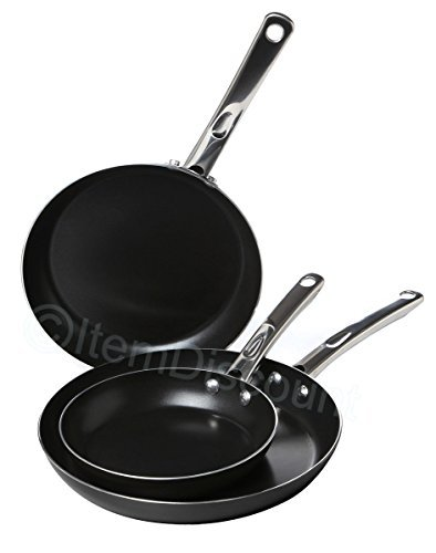 "Farberware 8"" 10"" 11"" Oven Bake Fry Pan Skillet Set Egg Non Stick Steel Handles from Farberware"