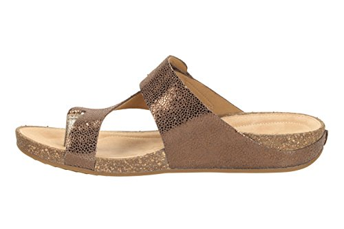 14ad92a61ae9e Clarks Women s 261058915 04 Fashion Sandals Brown Braun (Bronze Metallic  Leather)  Amazon.co.uk  Shoes   Bags