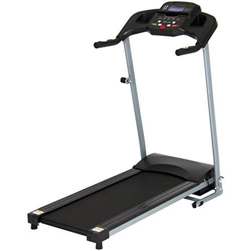 800W Folding Electric Treadmill - Black