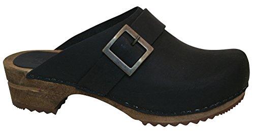 Sanita Clogs Classic Clogs - Sanita Womens Urban Clog Open Oil Leather Black
