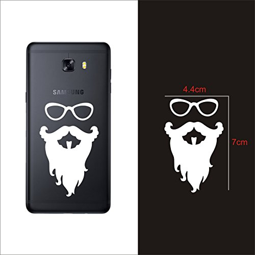 Fingers Bandholz Beard Decal (Pack of 2) Mobile Phone Skin Sticker-White