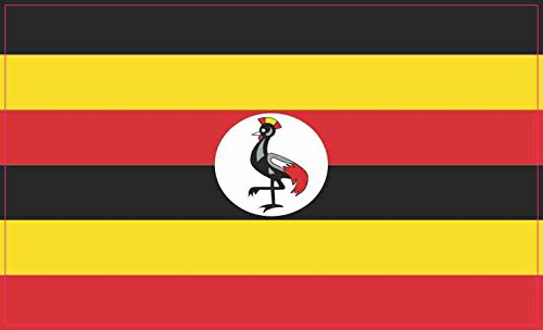 5in x 3in Uganda Flag Sticker Vinyl Cup Decal Car Truck Bumper Stickers by StickerTalk