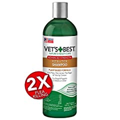 Eliminate fleas and ticks with the 2X flea killing effectiveness of Vet's Best Flea and Tick Advanced Strength Shampoo. Our plant-based formula contains 100% certified natural essential oil to kill fleas, flea larvae, flea eggs, and ticks on contact....