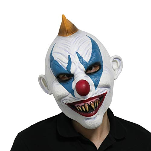 FantasyParty Halloween Creepy Mask Costume Party Latex Scary Clown Mask Joker Mask (Blonde - Masks Costume Scary Hair