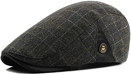 野球帽 キャスケット メンズ ハット ゴルフ フェルト 日よけ 調整可能 クラシック ソフト ハンチング LWQJP (Color : 2, Size : Free size)