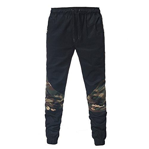 Jeans Chino Casual Ceintures Fit Slim Homme Noir Pantalon Jogging Sport Cebbay Cargo IqXFx7