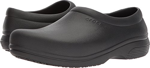 Crocs On The Clock Work Slipon Medical Professional Shoe, Black, 8 Men/ 10 Women M US