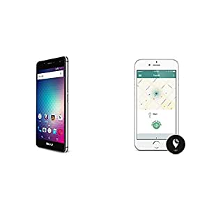 BLU R1 HD Cell Phone 16GB - Black and TrackR pixel Black