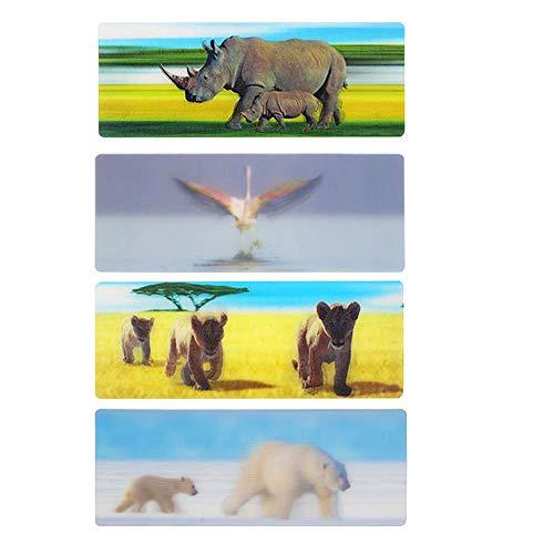 3D Bookmark Animal Bookmark Kids Bookmarks for Teens 4pcs]()