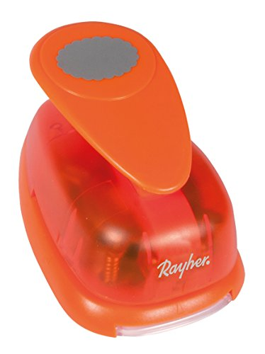 - Rayher Oval Motive Puncher with Deco Border, Orange, 3.81 cm