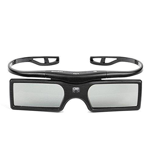 LeaningTech SS-15D Detachable 3D Active Shutter Glasses, for 144Hz DLP Projectors and HDTV - Samsung Sony LG Sharp Epson Panasonic, Black
