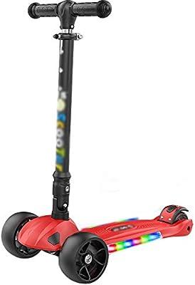 Patinete Scooter para niños con luz LED, patín Plegable en ...