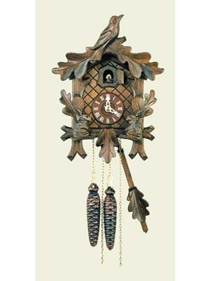 Original One Day Movement Cuckoo Clock with Moving Rabbits 11 Inch