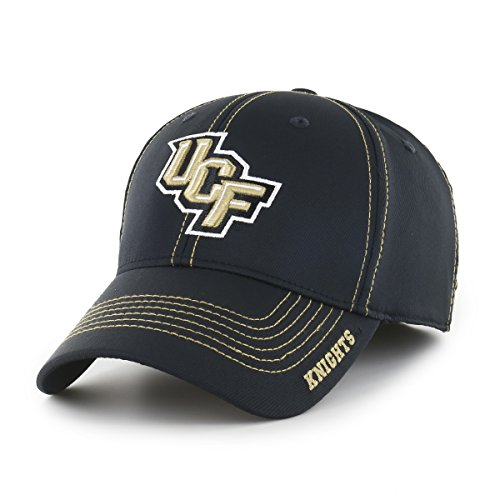 NCAA Central Florida Golden Knights Adult Start Line Ots Center Stretch Fit Hat, Large/X-Large, Black