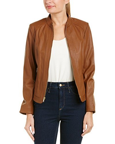 396bc5a2dde Cole Haan Women's Trapunto Stitch Panel Jacket, Whiskey, S | Rebecca ...