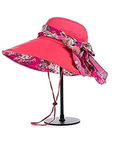 Al aire libre sombrero femenino verano doble cara desgaste sombrero de sol anti-UV plegable Sunhat Protector solar playa sombrero UPF 50para mujeres (color: 2)