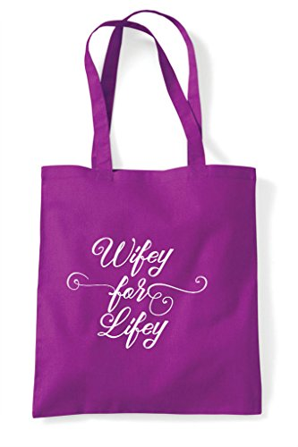 Wifey Shopper Lifey Tote Do Personalised Party Customised Hen For Magenta Bag Hen vq7xOICEwn