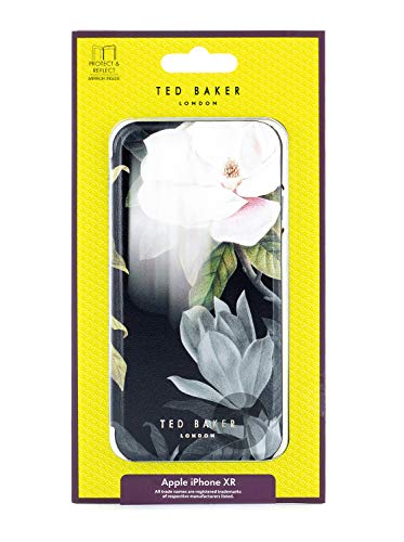 Ted Baker Fashion Premium Book Case for iPhone XR, Contactless Card Slot Cover Without Magnets for Women - AGHATA