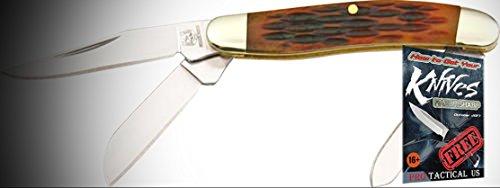 Rough Rider Elite Knife 011814 Folding Tiny Stockman Jigged Amber Bone Handle 2