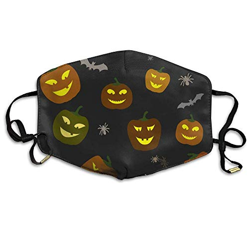 SGBTJKU Halloween Pattern Pumpkins and Spiders Horror Anti Pollution LipAnti Pollution Windproof Mouth Masks ()