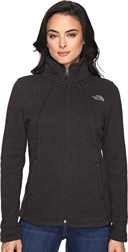The North Face Womens Crescent Full Zip - TNF Black Heather - S