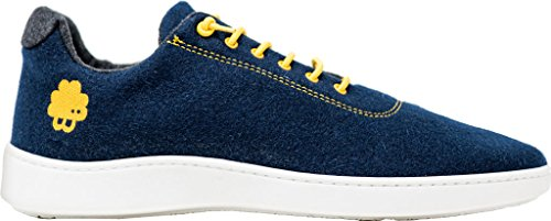 Sneaker Baabuk Urban Wooler Blu Scuro / Giallo