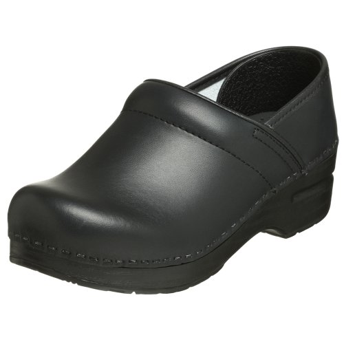Dansko Women's Professional Box Leather Clog,Black,37 EU / 6.5-7 B(M) US