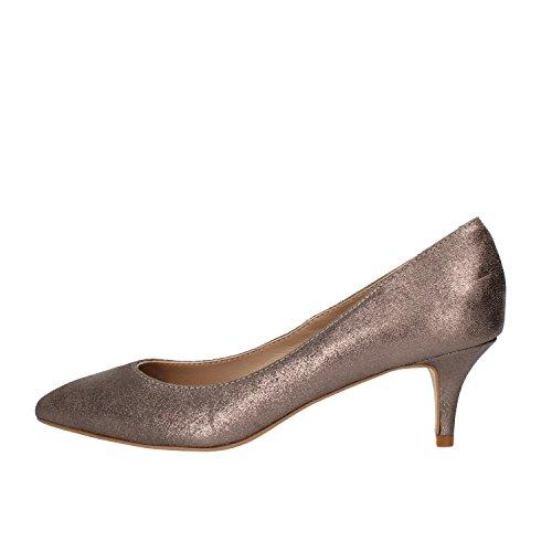 Carmens Zapatos de Salón Mujer Gris Cuero de Ante AF55 (36 EU)
