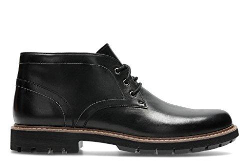 Clarks Herren Batcombe Lo Chelsea Boots Schwarz (Black Leather)