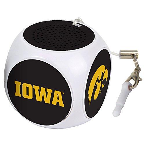 AudioSpice NCAA Iowa Hawkeyes MX-100 Cubio Mini Bluetooth Speaker, White, One Size from AudioSpice