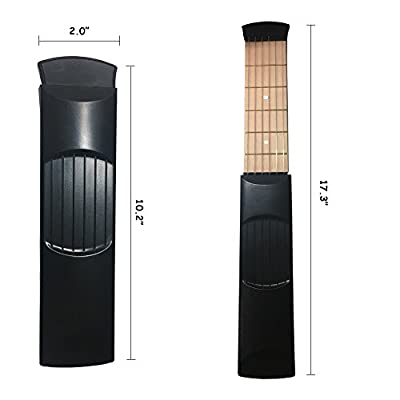 Mr. Sleeply Pocket Guitar, Portable 6 Fret Guitar Practice Tool Gadget for Beginner Chord Trainer, Finger Exercise, Scales & Chords Practice Tool