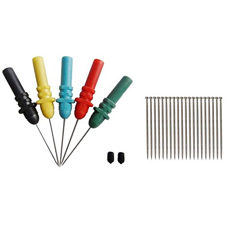 nning Probes/Needle/ Piercing Probes Set(Set of 5,Assorted Colors) (Automotive Back Probe Pins)