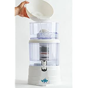 Countertop Alkaline Water Filter Dispenser - Clean, Energize and Purify Unlimited Amounts with the NuWater Filtration System.