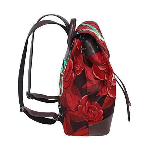 Dragonswordlinsu Mochila Única De Multicolor Piel Talla Mujer Bolso Para TTPn8p6W