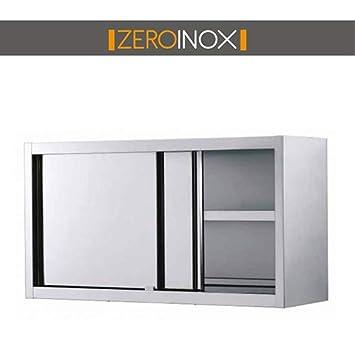 Zeroinox Armoire Suspendue Avec Portes Coulissantes Et