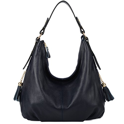 YALUXE Pockets Leather Slouchy Shoulder