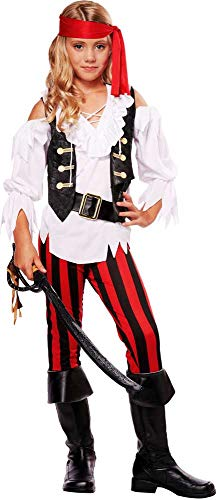 Posh Pirate Buccaneer Swashbuckler Treasure Island Halloween Costume Child Girls -