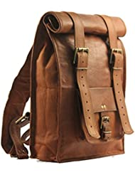 Handolederco. Leather Backpack College Backpack Leather Rucksack School Backpack Travel Leather Backpack Leather...