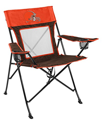 Chair Folding Tailgating Tailgate (Rawlings NFL Cleveland Browns Unisex LP0065NFL Game Changer Chair, Brown, Adult)