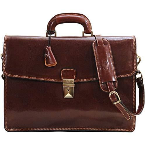 Floto Brown Milano Brief Attache Lap-top Case ()