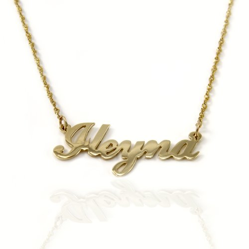 14k Gold Personalized Name Necklace (yellow-gold, 16 Inches) 14k Yellow Gold Name Pendant