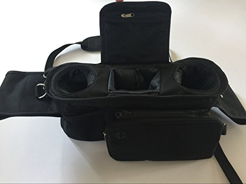 Baby Stroller Organizer Bag, Tray, Bottle Cup Holder, with Multiple Pockets & Compartments for Phone, Money, ID, Sunglasses, Snacks, Coffee, Extra Diaper. Separate Zippered Removable Pouch by Colico (Image #1)