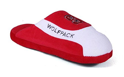 NCS07-2 - North Carolina State Wolf Pack - Medium - Happy Feet Mens and Womens - NCAA Low Pro Slippers