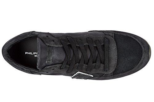 Philippe Model Herenschoenen Mannen Suède Sneakers Schoenen Zwart Tropez
