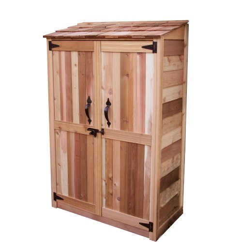 Outdoor Living Today Western Red Cedar Garden Chalet Storage Shed with 2 Shelves