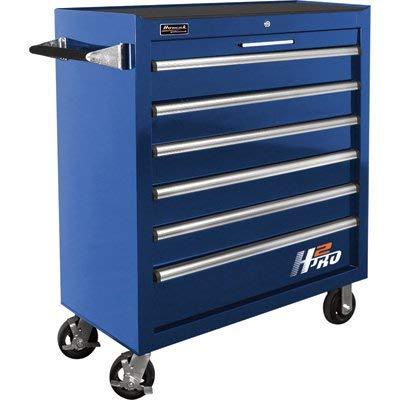 (Homak H2PRO Series 36-Inch 6-Drawer Roller Cabinet, Blue, BL04036061)
