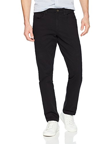 Cotton 5 Pocket Jean - Goodthreads Men's Slim-Fit 5-Pocket Chino Pant, Black, 34W x 33L