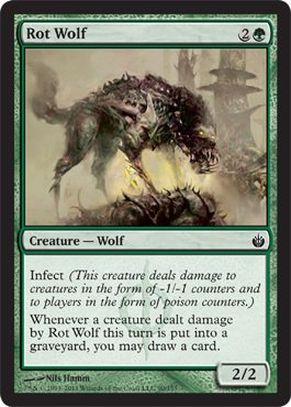 Magic: the Gathering - Rot Wolf - Mirrodin Besieged