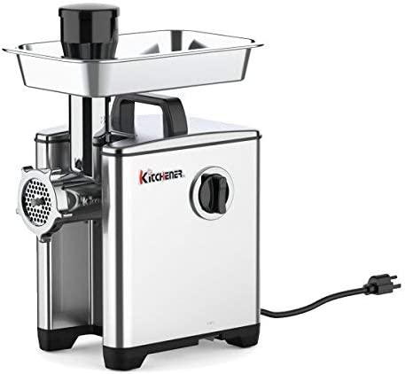 Kitchener Meat Grinder Sausage Stuffer Elite 1/2 HP 240 LBS Per/Hr 370  Watts Electric Super Heavy Duty Aluminum Body Commercial Grade Stainless  Steel ...